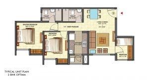 Aquaville Unit Plan 3BHK